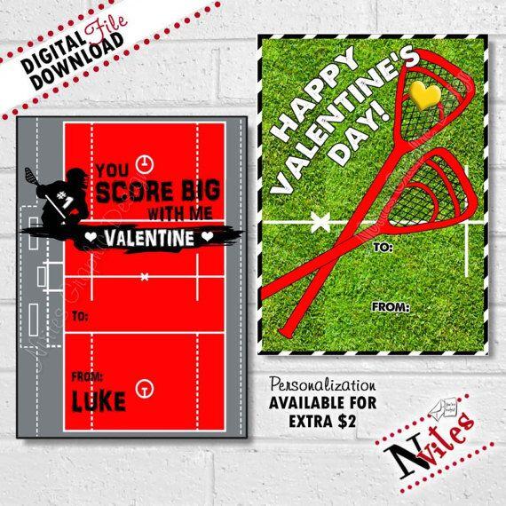 Lacrosse Valentine Cards