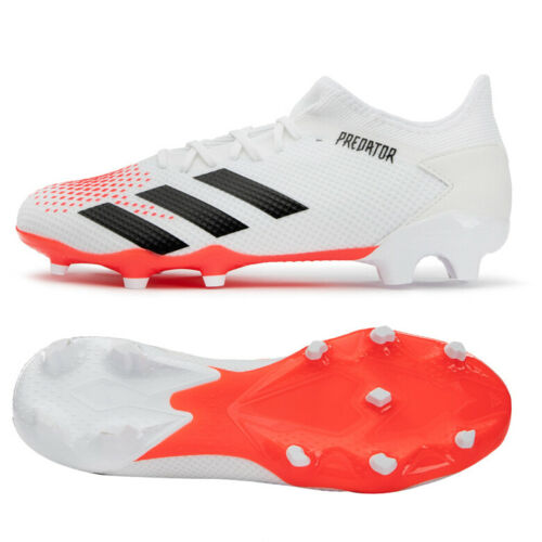 Adidas Predator 20 3 L Fg Football Boots Shoes Soccer Cleats White Ef1639 Ebay In 2020 Football Boots Shoe Boots Soccer Cleats