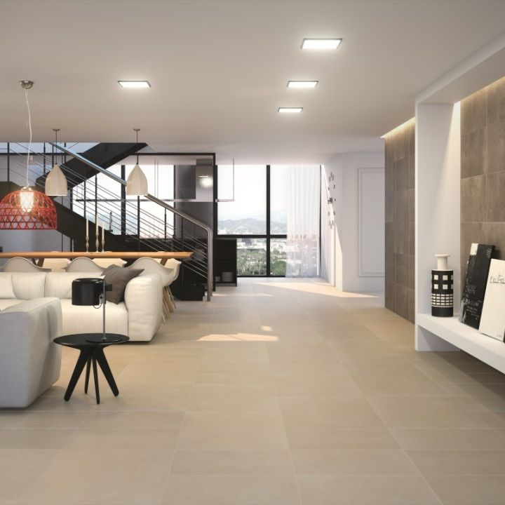 Architonic Grey Porcelain Anti Slip Tiles Living Room Flooring