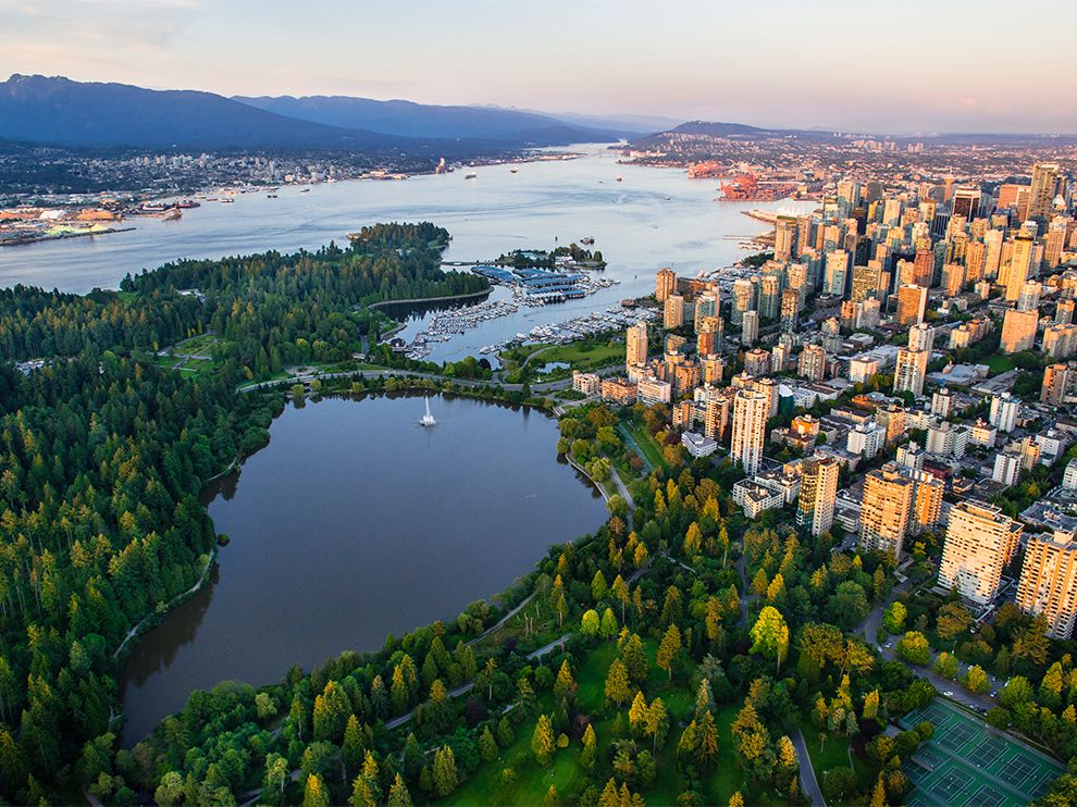 .Vancouver's thousand-acre playground, Stanley Park includes lakes and beaches.