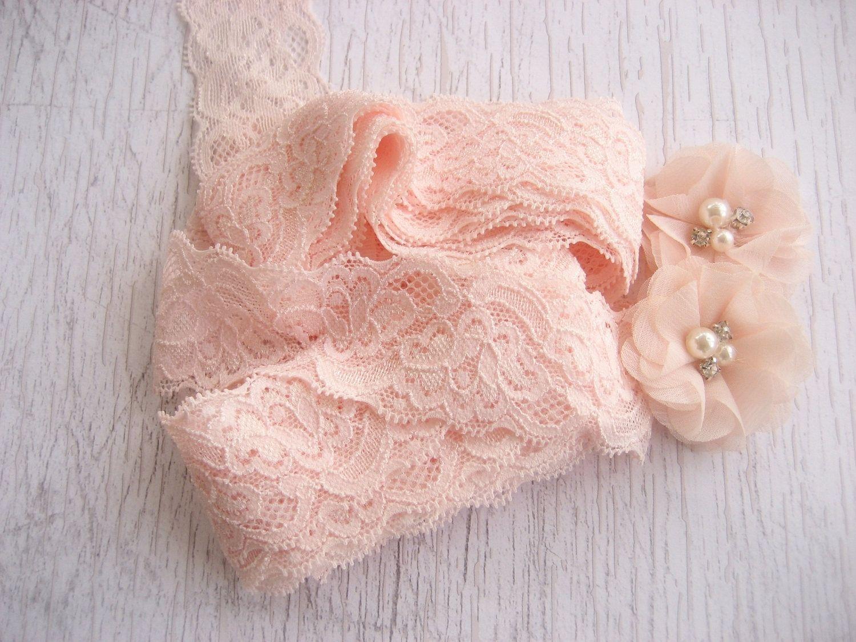 Blush Pink Stretch Lace Blush 1.5\