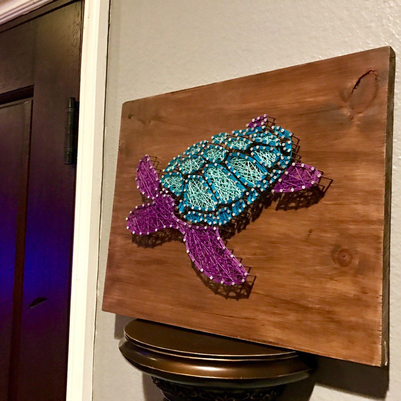 Um... Yes, please! Turtle order complete #hookedbywhitney #stringart ...