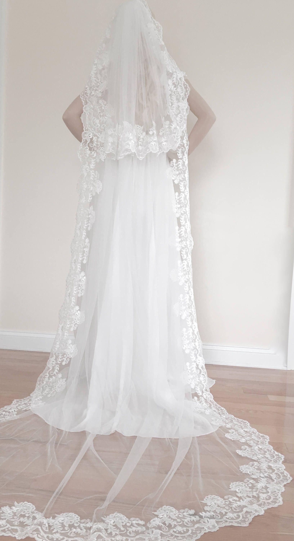 Sale Venice Lace Detachable Blusher Veil Blusher Veil One Etsy Wedding Veils Lace Blusher Veil Wedding Dress Tulle Lace