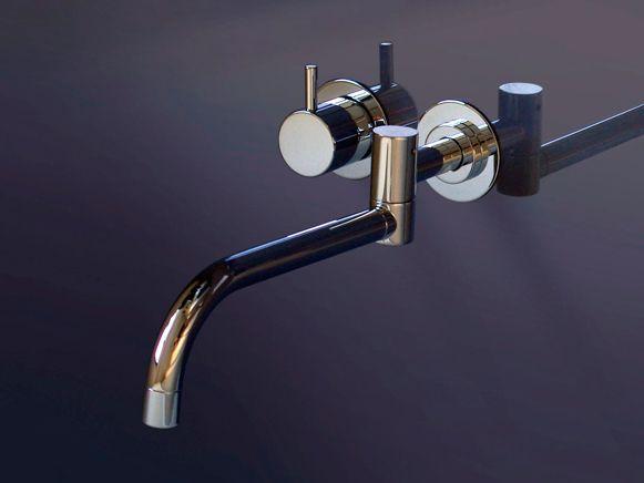 首が振れる壁付け水洗金具 Vl931 洗面器用セット 美しいデザインの