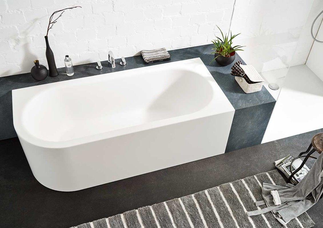 ③ Ideen für freistehende Badewanne an der Wand von