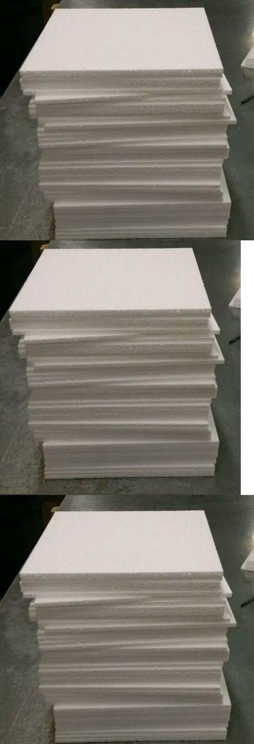 Styrofoam Forms 41200 80 Pcs 12 X12 X1 8 Styrofoam Polystyrene Flats Sheets Shipping Party Art Craft Buy It Now