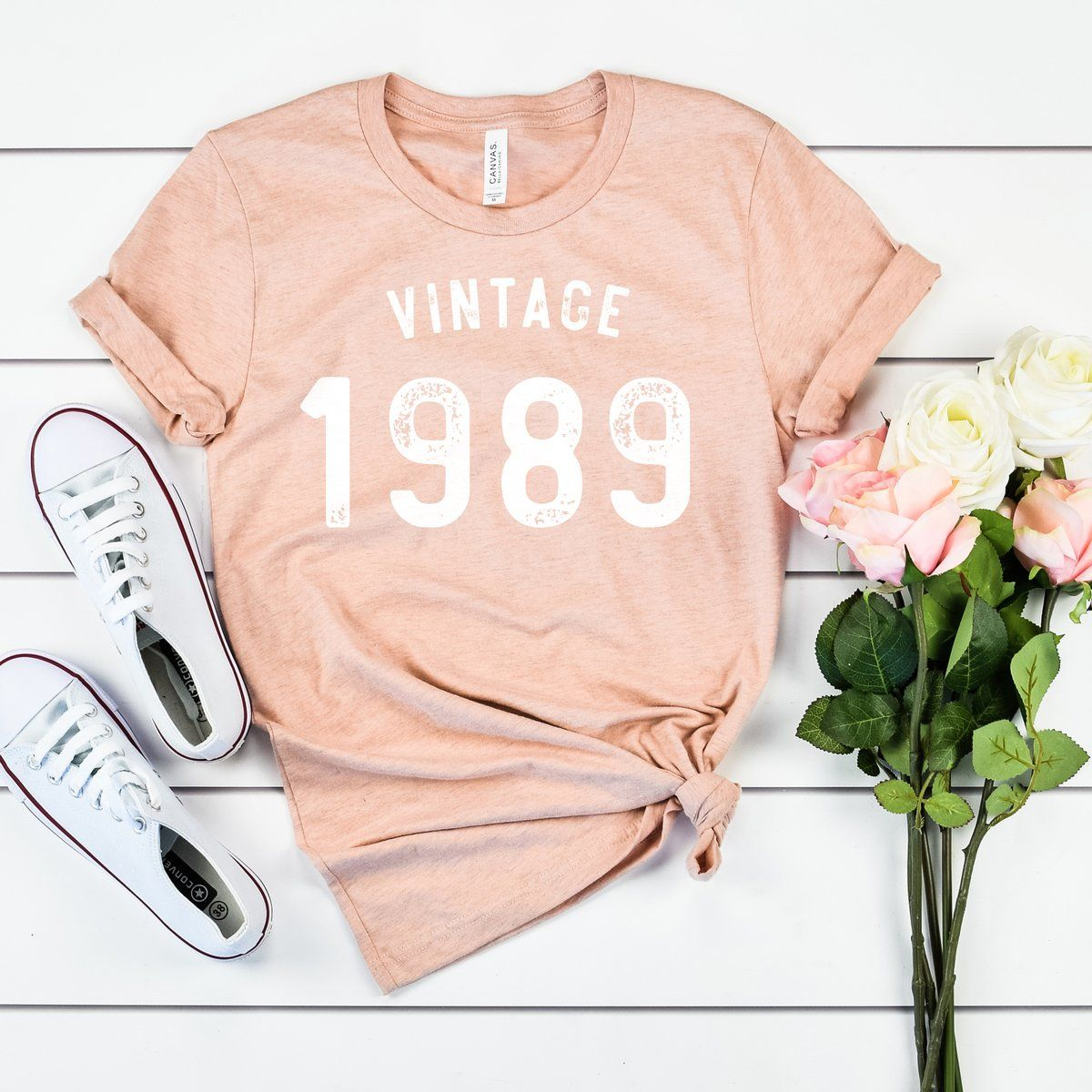 Vintage 1989 30th Birthday Shirt Playera De Cumpleaños 40 Cumpleaños Mujer Cumpleaños Mujer
