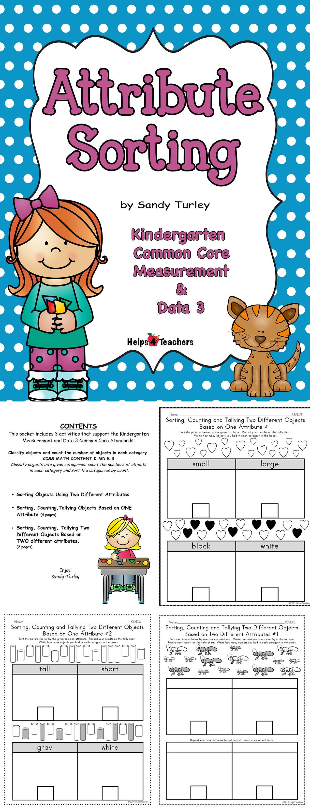 Awesome Packet Includes 7 Activity Sheets That Work On