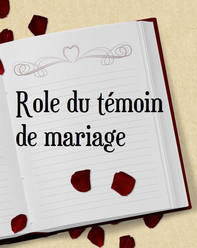 Role D'un Témoin De Mariage