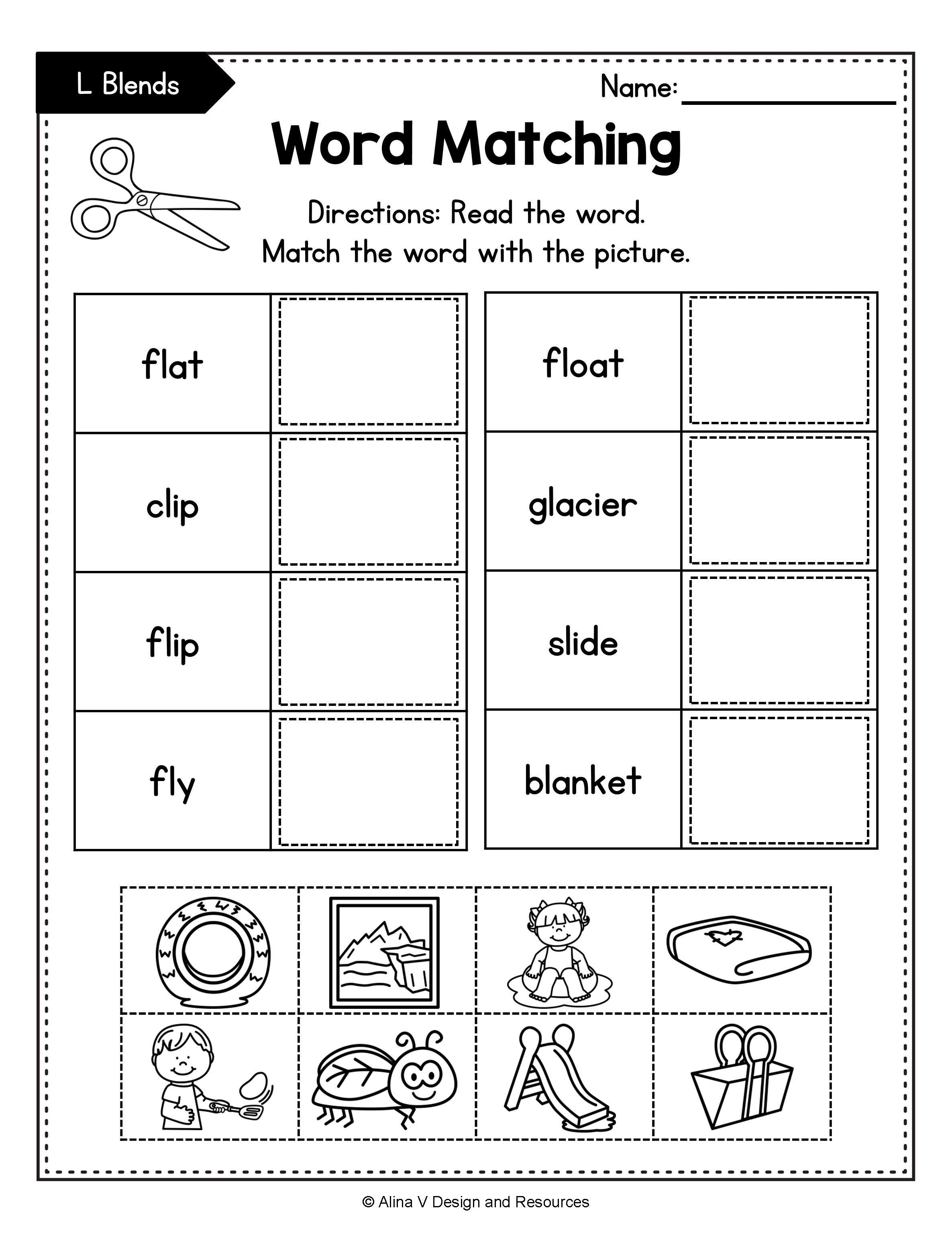 Beginning Blends Worksheets BUNDLE   consonant blends in ...