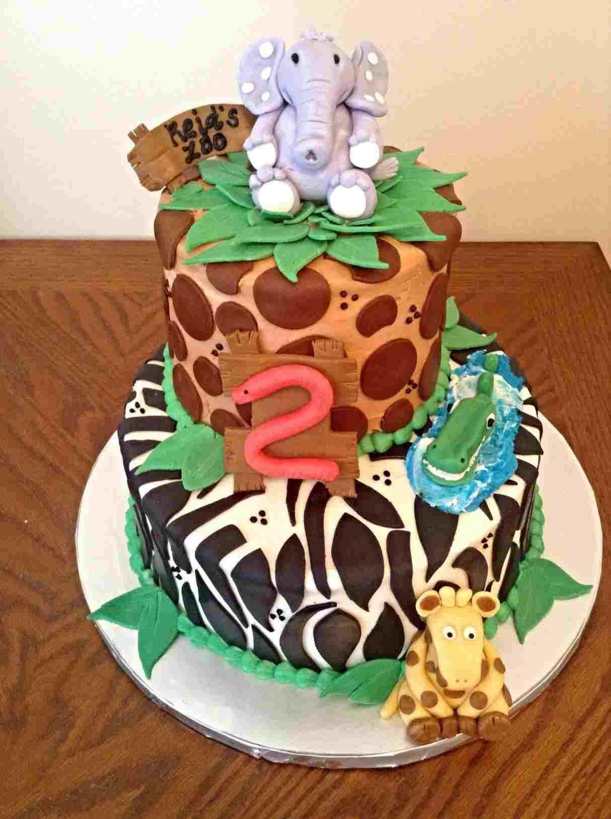 Easy-Jungle-Birthday-Cake-decoration-safari-baby-shower ...