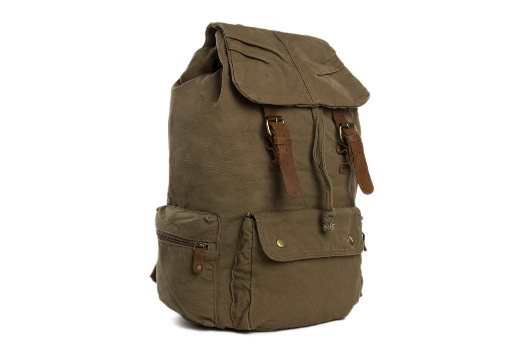 a30209288f Image of Army Green Waxed Canvas Backpack