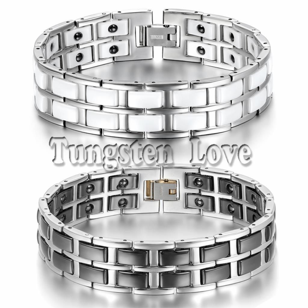Free shipping buy best heavy wide mens silver stainless steel