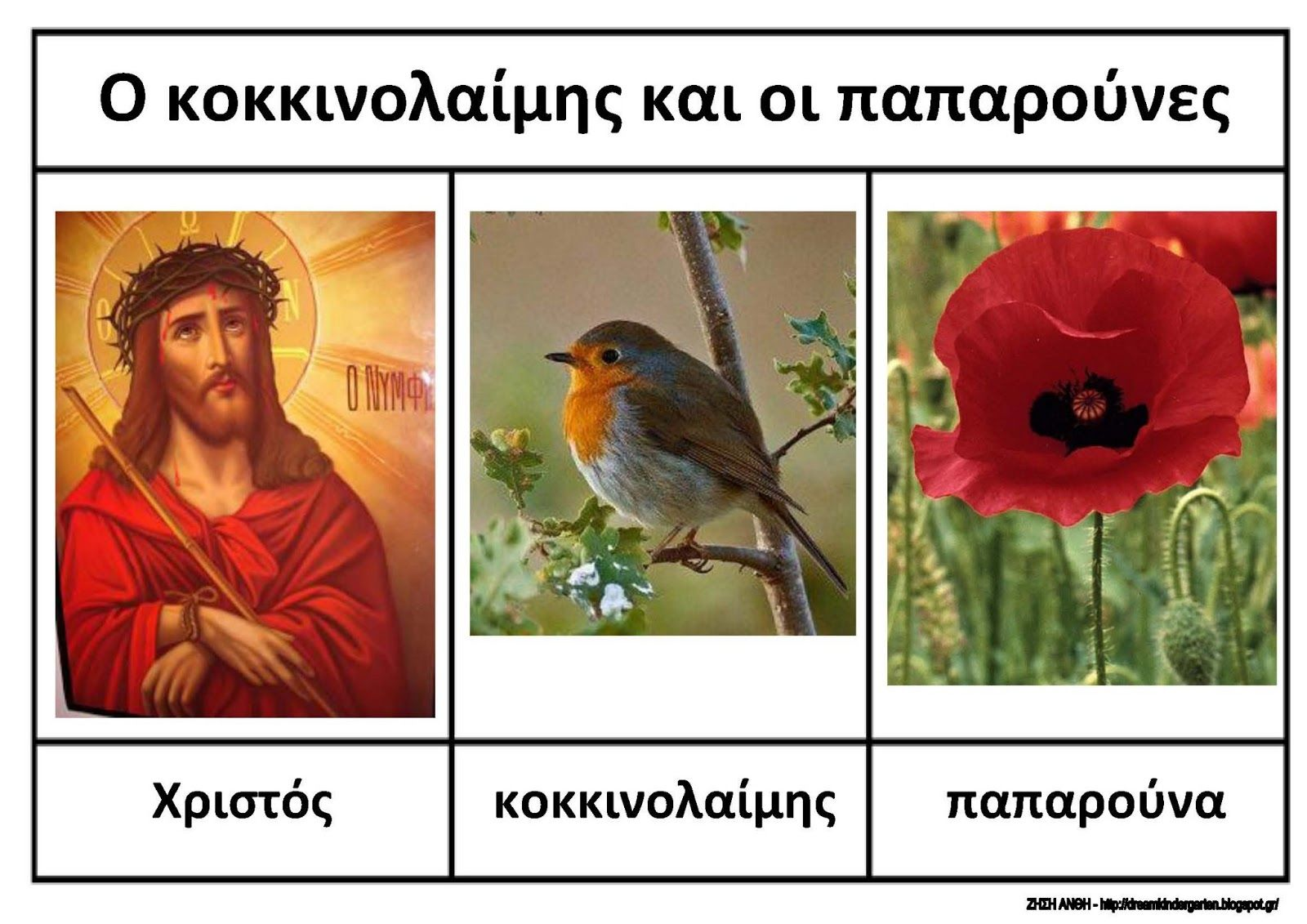 The Poppies And The Robin An Easter Story Ideas And