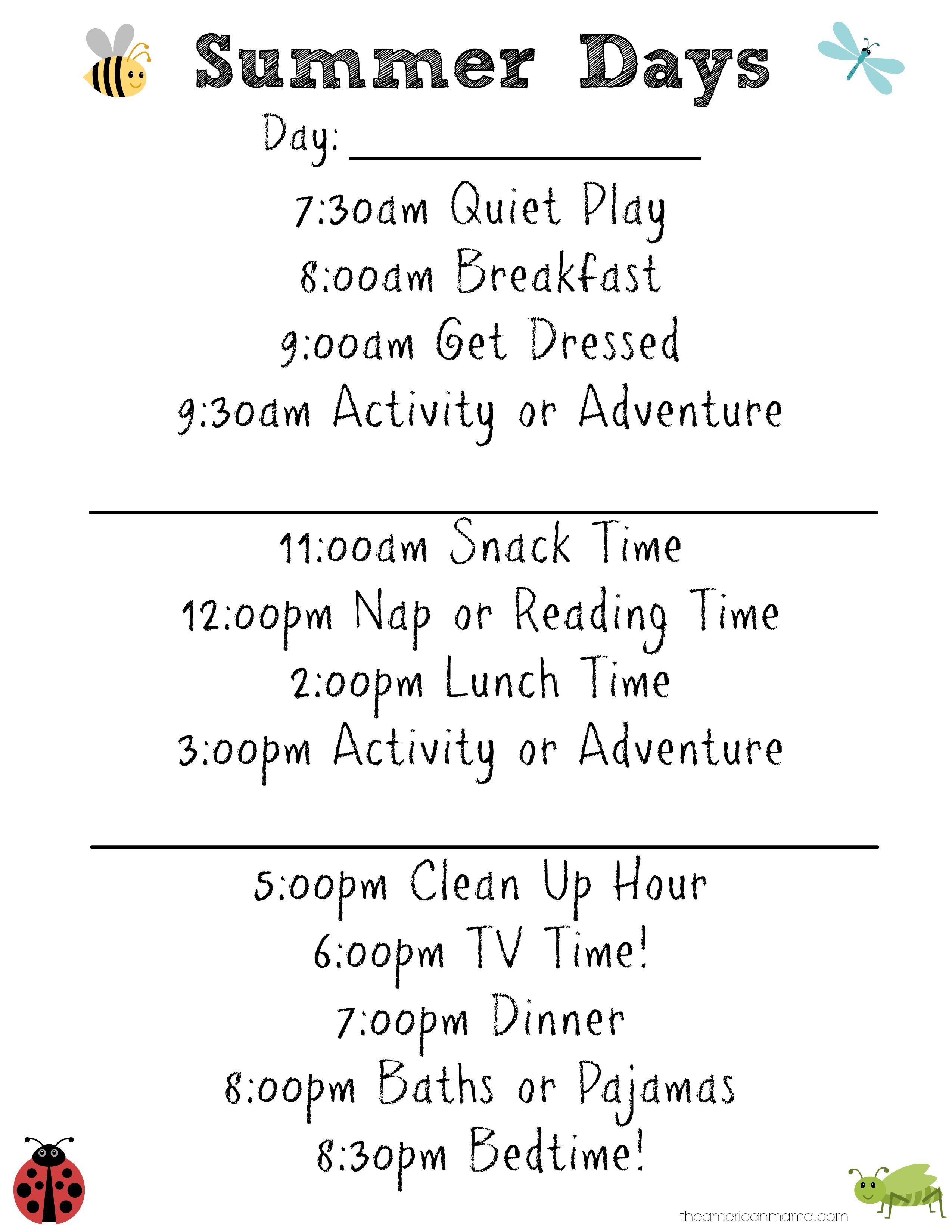150 Activities For Kids On Summer Break Summer Schedule