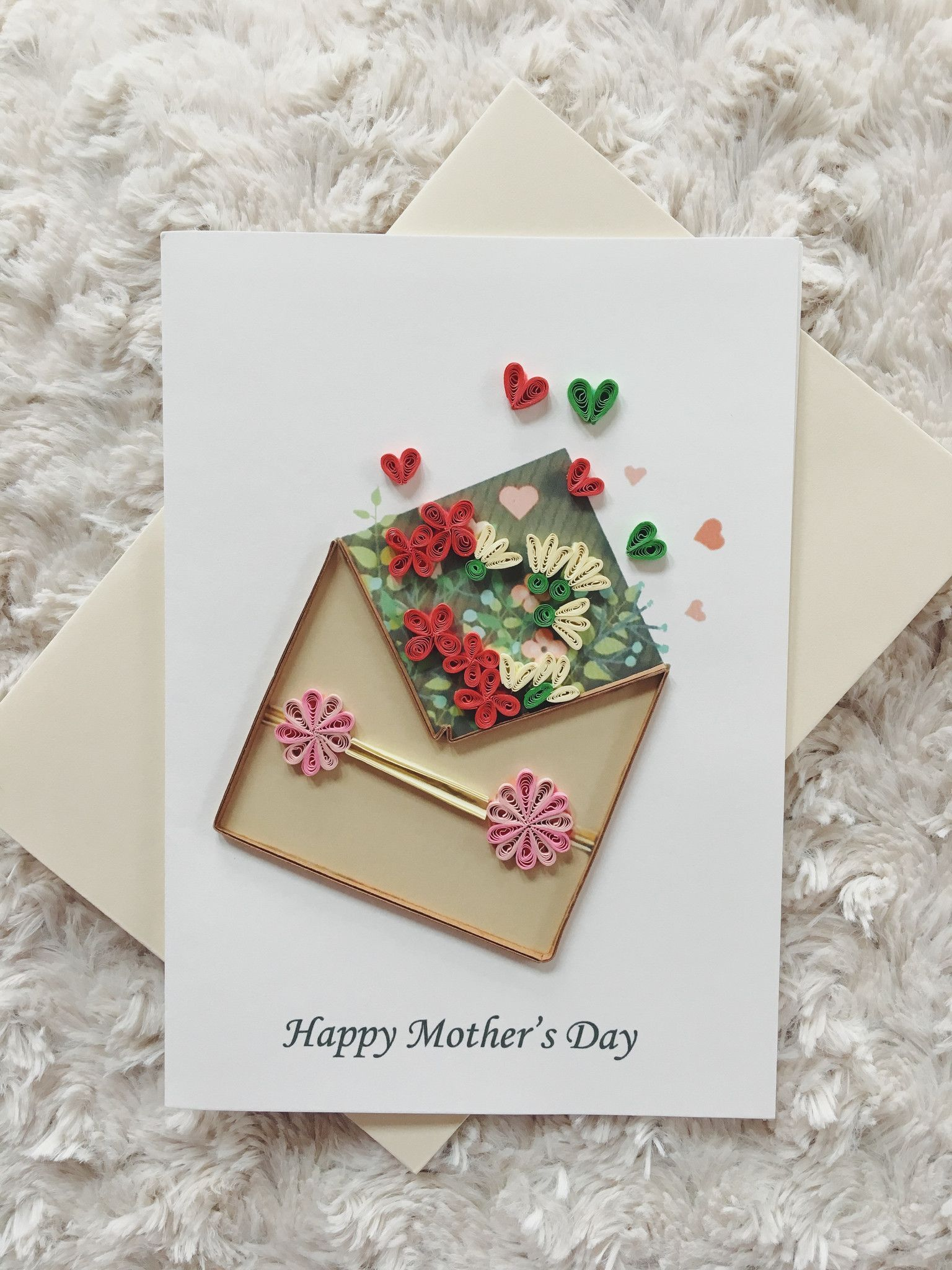 HAPPY MOTHER/'S DAY MUM HANDMADE MOTHERS DAY CARD