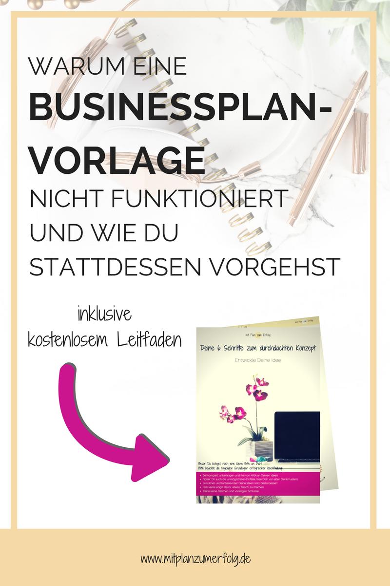 Warum eine Businessplan-Vorlage nicht funktioniert   Businessplan ...