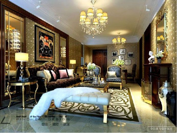 Traditional Luxury And Sexy Chinese Living Room Design Ideas