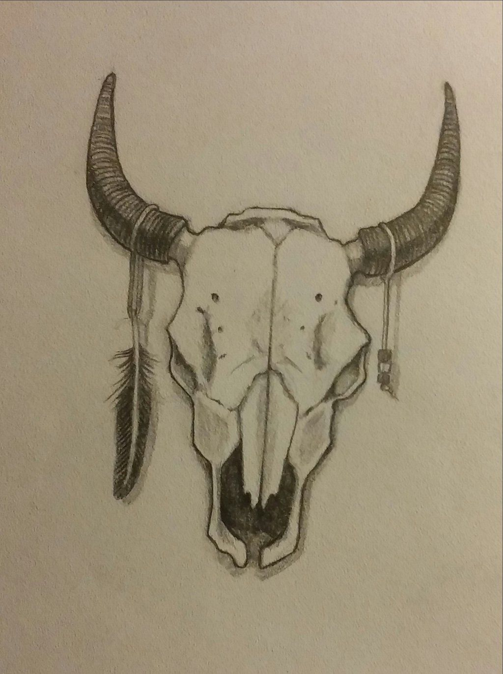 More Like Buffalo Skull Tattoo Design By Ockra Skull Tattoo Design Buffalo Skull Skull Tattoo