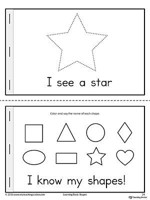 Basic Geometric Shapes Mini Book | Worksheets, Triangles and Shapes