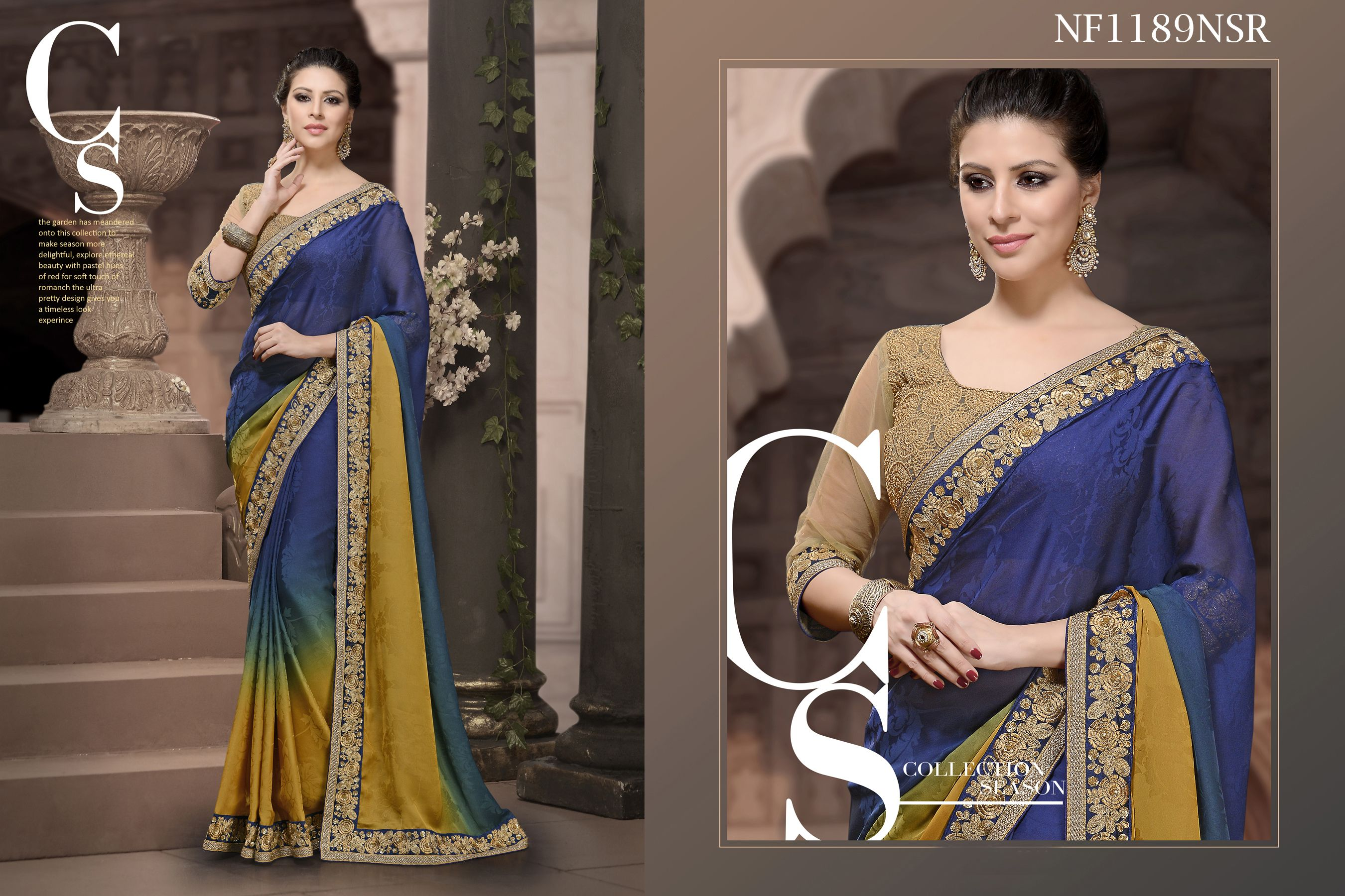 #Lavish #Saree #Shaded #In #Satin #And #Jacquard #Fabric #With #Dupion #Blouse #Piece $93.09 www.fashionumang.com