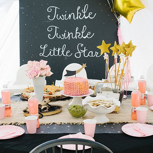 Sweet idea for a 1st birthday! Twinkle Twinkle Little Star! A Celestial First Birthday Bash