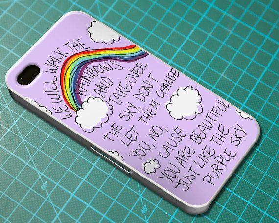 Purple Sky Lyric Cover  iPhone 4 4S iPhone 5 5S by FeelTheLyrics, $12.99