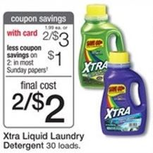 New Xtra Laundry Detergent Printable Coupon Xtra Laundry