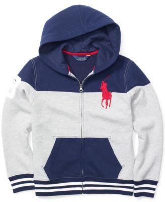 312ff64555c1 Ralph Lauren Boys  Colorblocked Full-Zip Hoodie