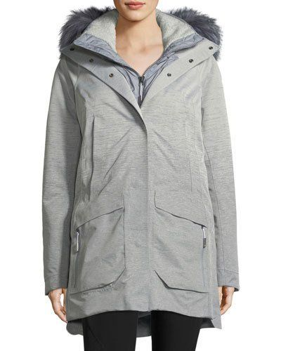 a3c3577fbe Zip-Front Hooded Gore-Tex® Parka Jacket w  Faux-Fur