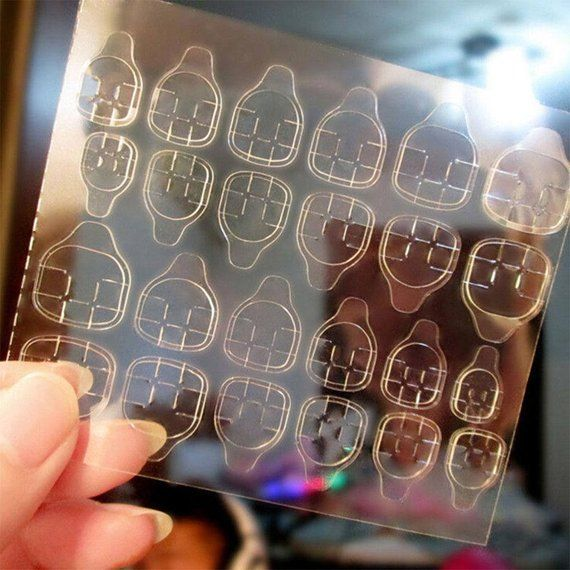 Adhesive Tabs For Press On Nails Double Sided Clear Elastic Jelly Glue Transpa C