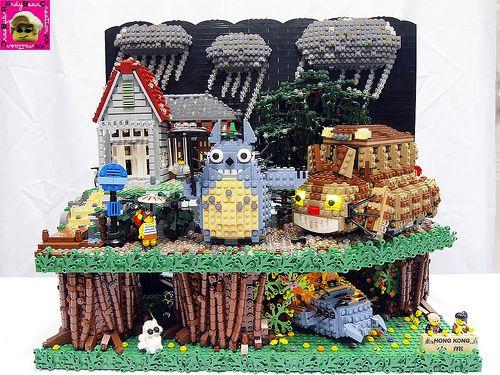 My Neighbor Totoro LEGO #Lego #Totoro #Ghibli