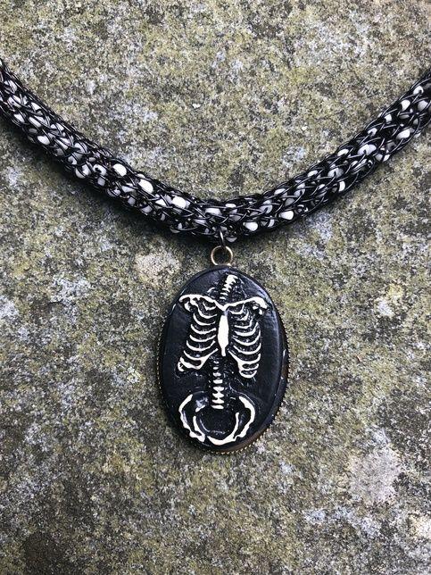 Skeleton Body Cavity Anatomical Beaded Viking Knit