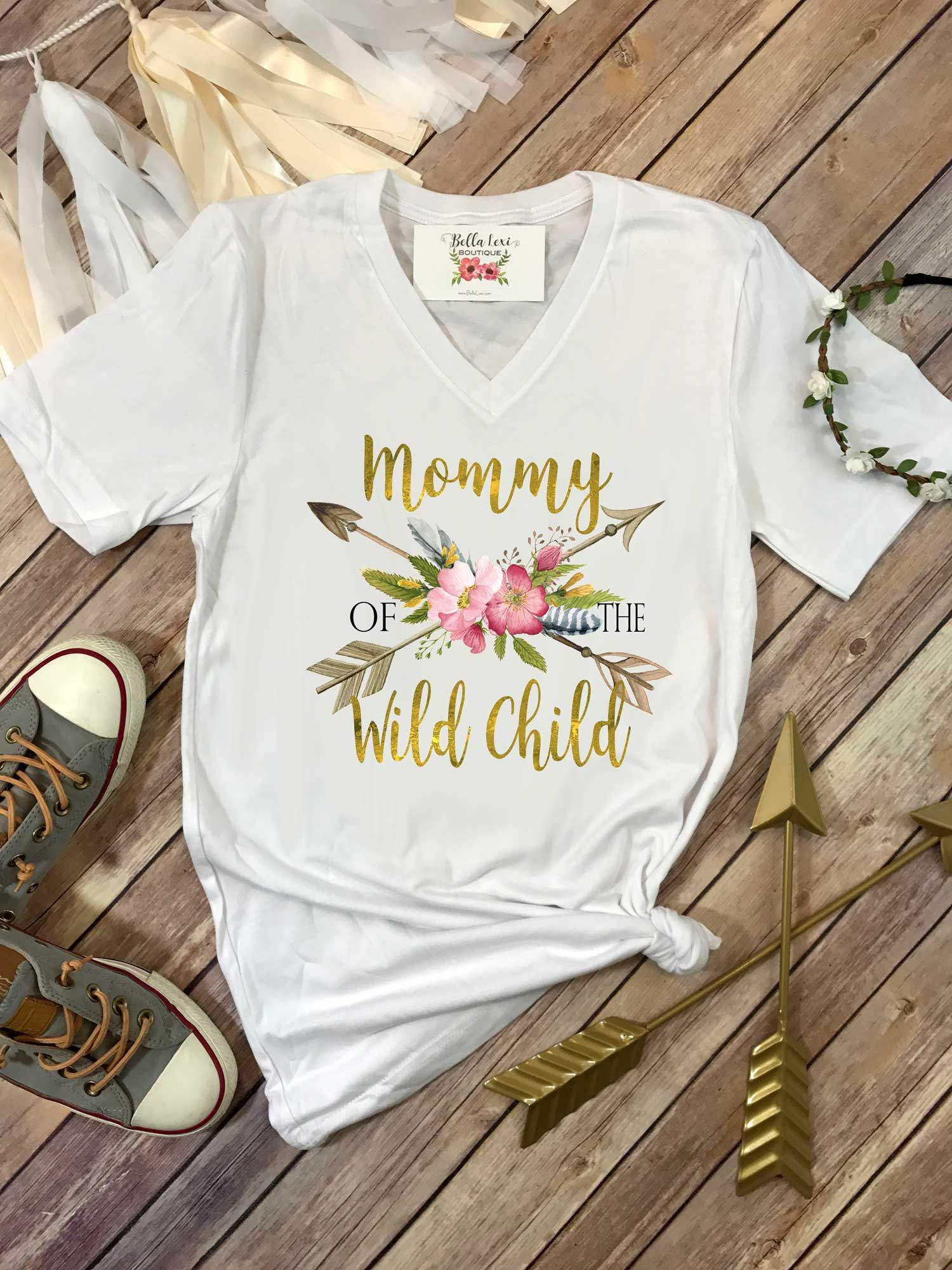 0443a9b5 Mommy of the Wild Child, Wild One Party, Mommy and Me shirts, Mommy ...