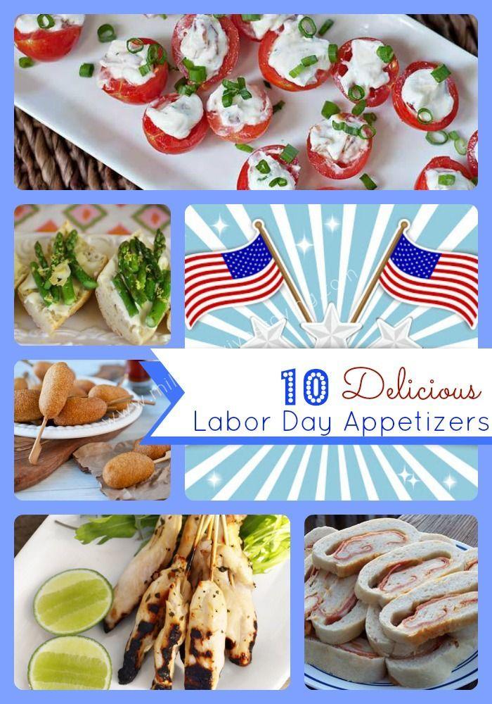 Labor Day Recipe Ideas - 10 Delicious Labor Day Appetizers #labordaydesserts