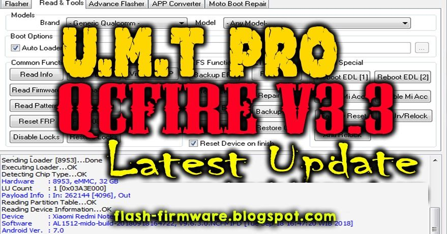 DownloadUltimate Qualcomm Tool Pro QcFire v3 3 Feature: Read / Write