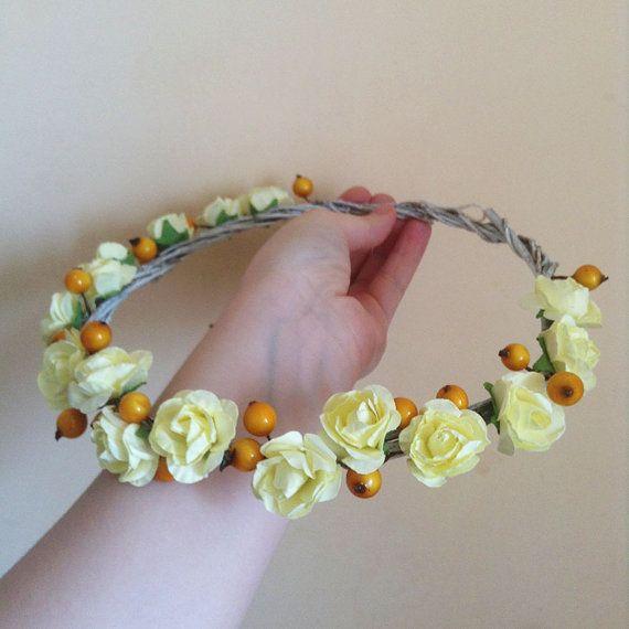 Bridal Head Wreath Wedding Head Wreath by MagicalSweetDreams