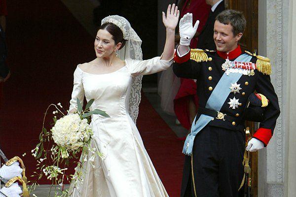 Brautmode Royale Hochzeitskleider Gala De Casamentos Casamentos Reais Dinamarca