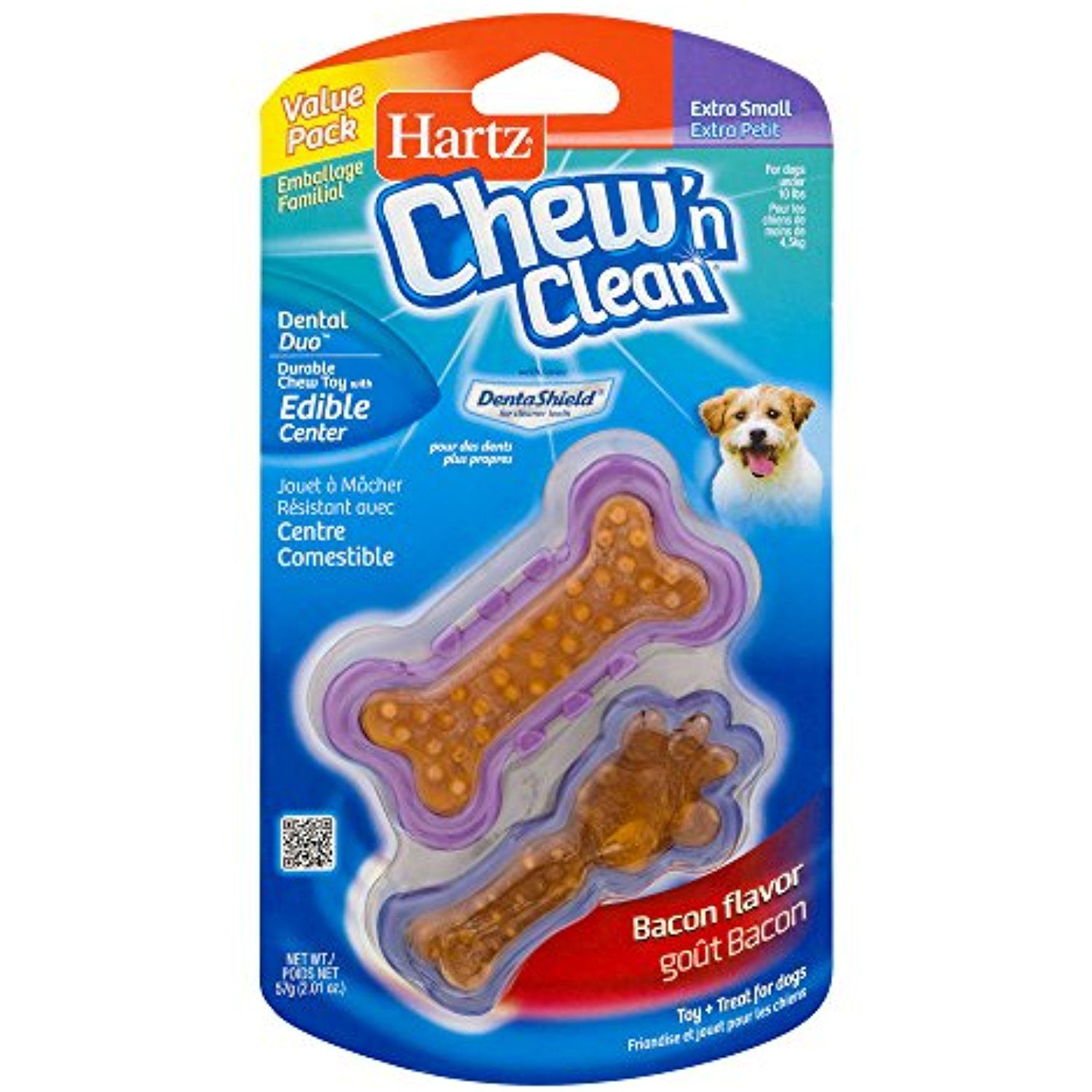 Hartz Dental Duo Bone Shaped Toy And Treat Combination For Small