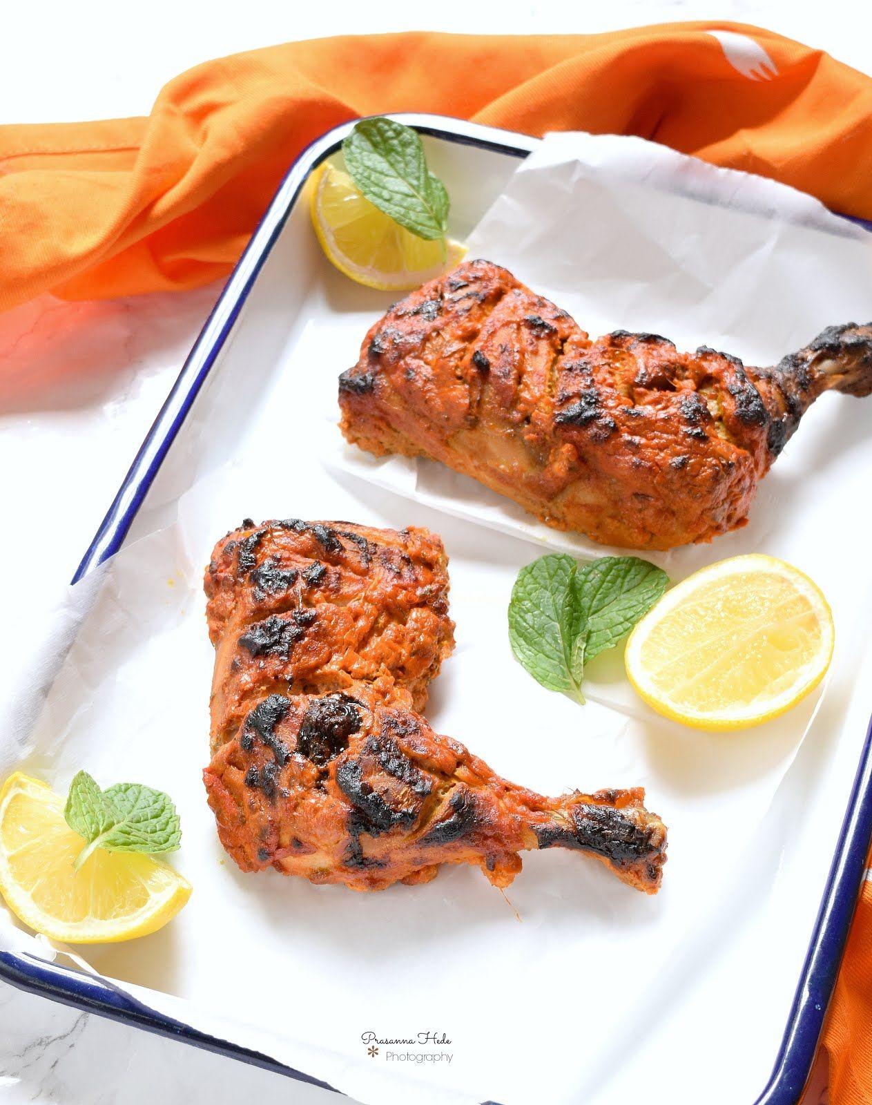Tandoori Chicken Oven Grilled Tandoori Chicken Oven Chicken Kebab Recipes