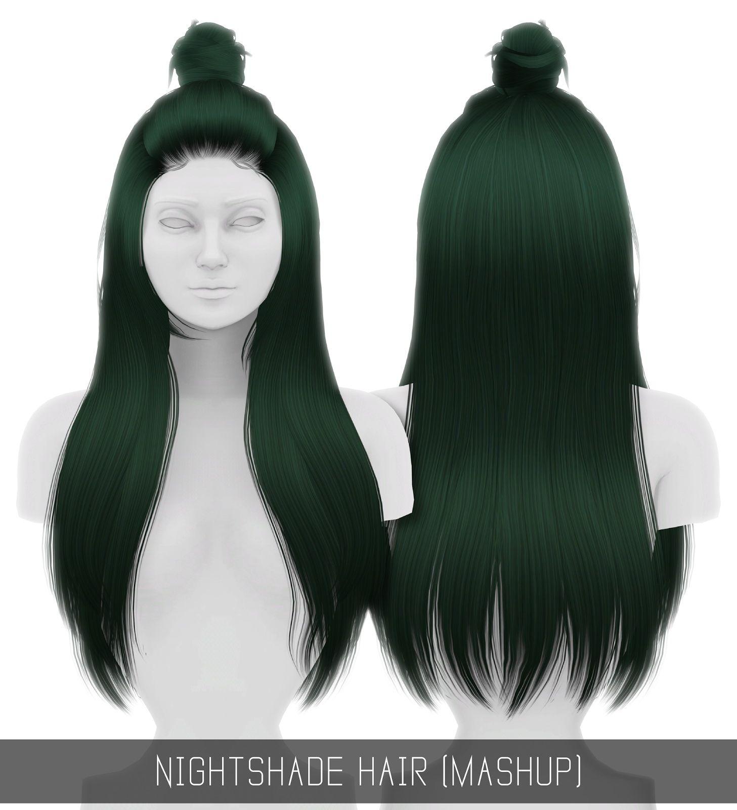Simpliciaty Nightshade hair retextured