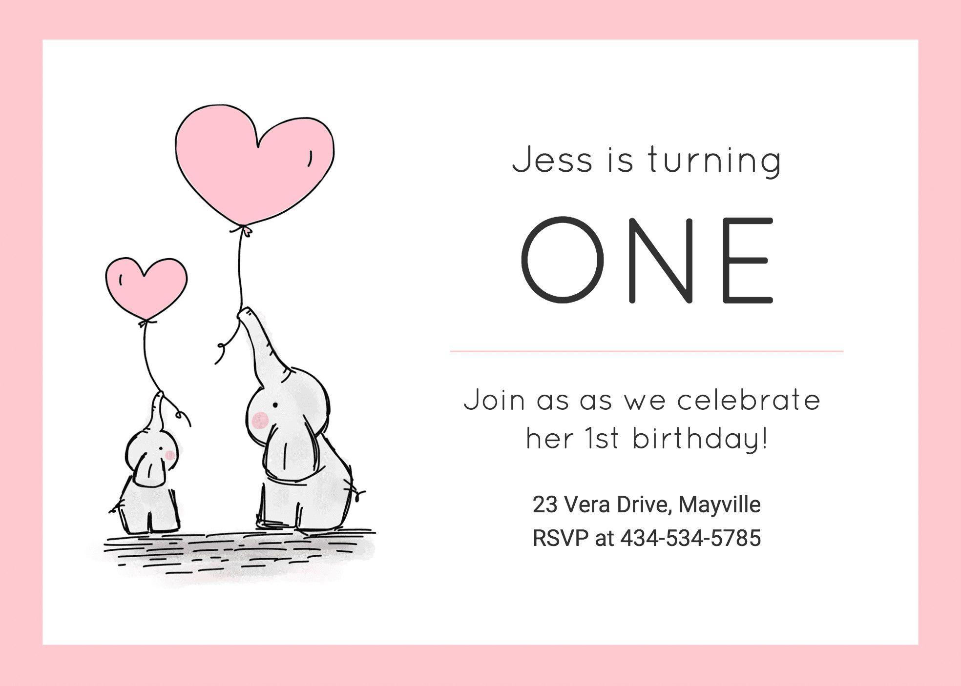 Birthday Card Invitation Template Luxury 10 Creative Birthday Invitation Birthday Invitation Card Template First Birthday Invitation Cards First Birthday Cards