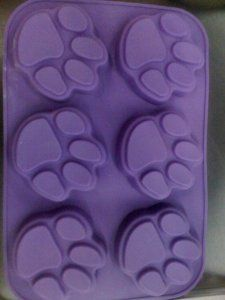 Purple Paw Print Silicone Muffin Pan By Bakins Silicone