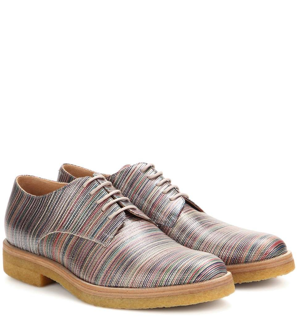 98f38efebc DRIES VAN NOTEN Striped Leather Derby Shoes.  driesvannoten  shoes  flats