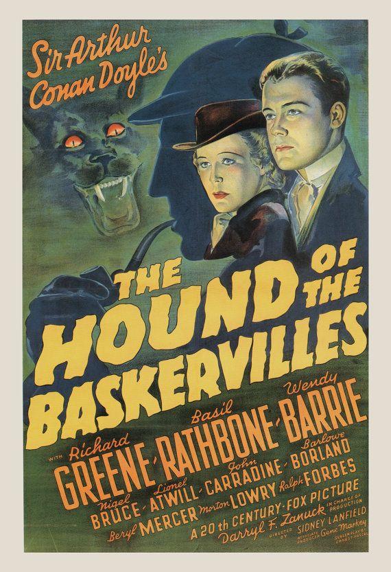 CLASSIC FILM POSTER - Sherlock Holmes Movie Poster - Sherlock Poster, Classic Film Poster, Classic Movie Poster