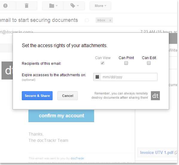 How To Track Secure And Remotely Delete Pdf Attachments In Gmail Security Gmail Messages