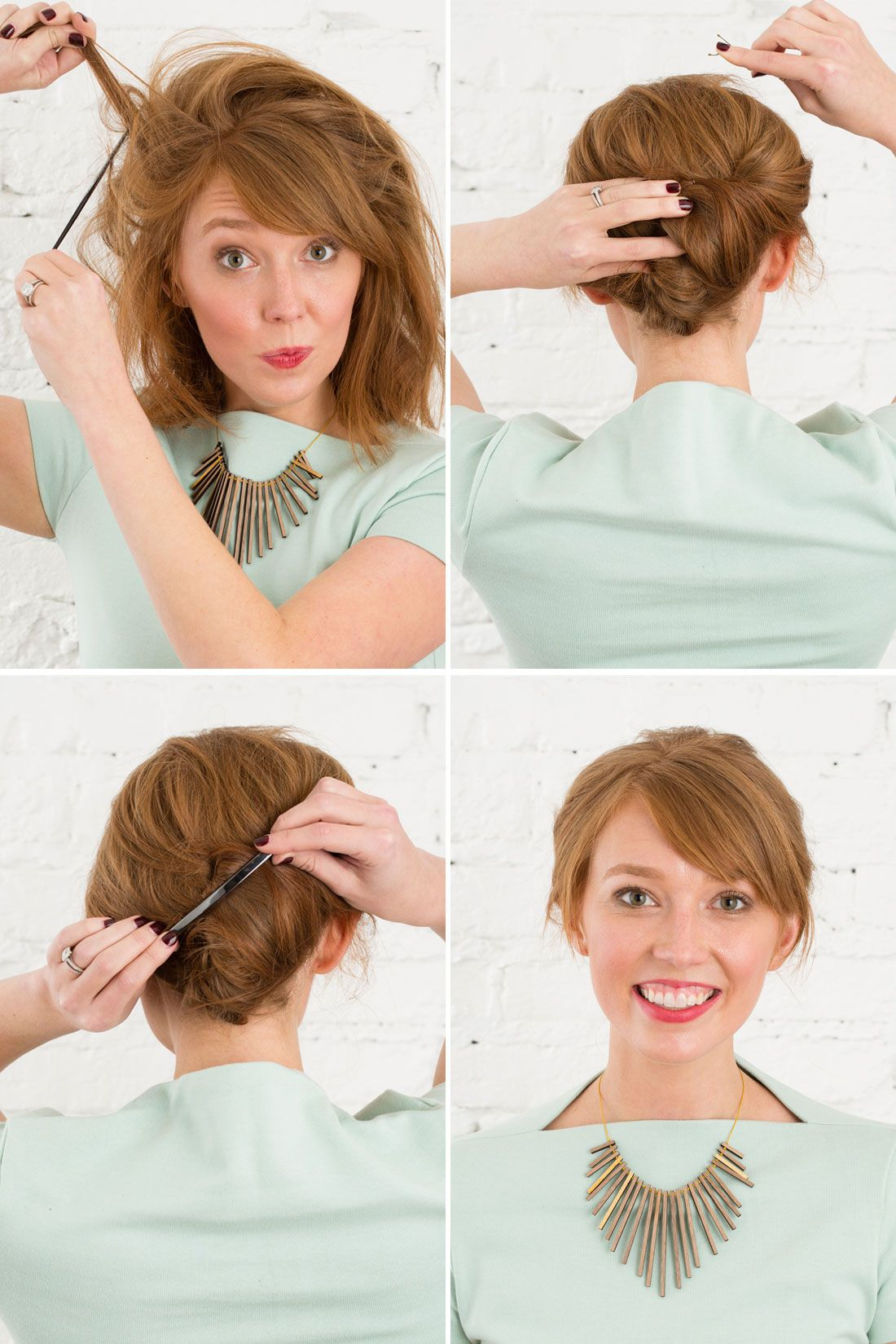 Barrette Hairstyles 3 Easy 5Minute Hairstyles Using Emma Stone's Metal Barrette  Updo