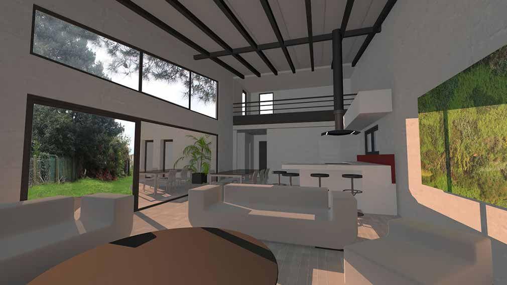 Maison contemporaine d\'architecte toit terrasse et zinc à Toulouse ...