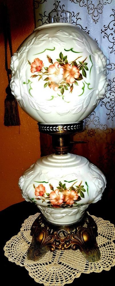 Vintage Rose Pattern Milk Glass Quot Gone With The Wind