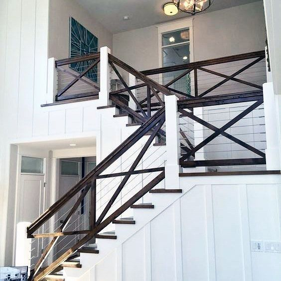 40 Trending Modern Staircase Design Ideas And Stair Handrails: Top 70 Best Stair Railing Ideas